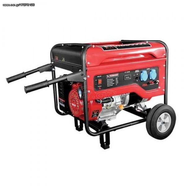 Γεννήτρια βενζίνης - PLUS HZB6500 -220V τετράχρονη 13Hp 6,5KVA -generaltradetsellos.gr