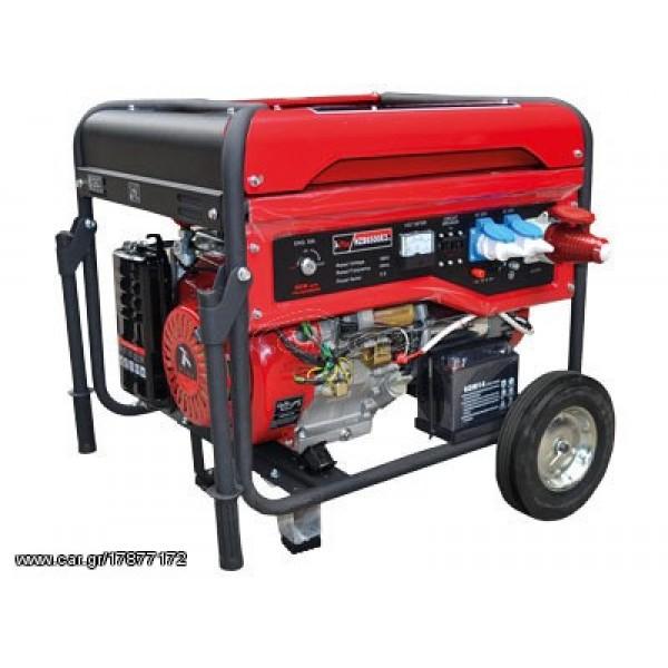 Γεννήτρια βενζίνης PLUS HZB8000 - 220V τετράχρονη 16Hp 8KVA -generaltradetsellos.gr