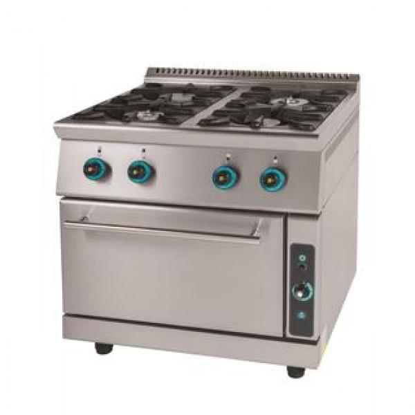 Κουζίνα αερίου 4 εστίες με φούρνο FC4FS7-ΣΕΙΡΑ 750