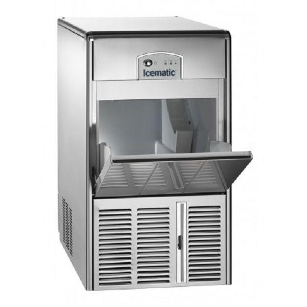 ICEMATIC E25 25kg - Παγομηχανη με αποθήκη - Παγάκι με τρυπα - Με σύστημα αναδευσης