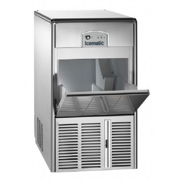 ICEMATIC E30 30kg - Παγομηχανη με αποθήκη - Παγάκι με τρυπα - Με σύστημα αναδευσης